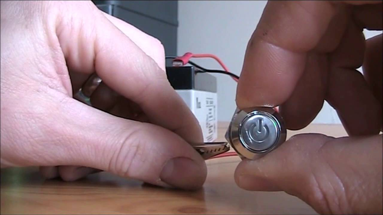 Illuminated Latching Push Button Youtube On Off Switch Led Buttons Electrical Wiring