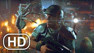 Чужой Chestburster Сцена 4K ULTRA HD - Пришельцы, колониальные морские пехотинцы