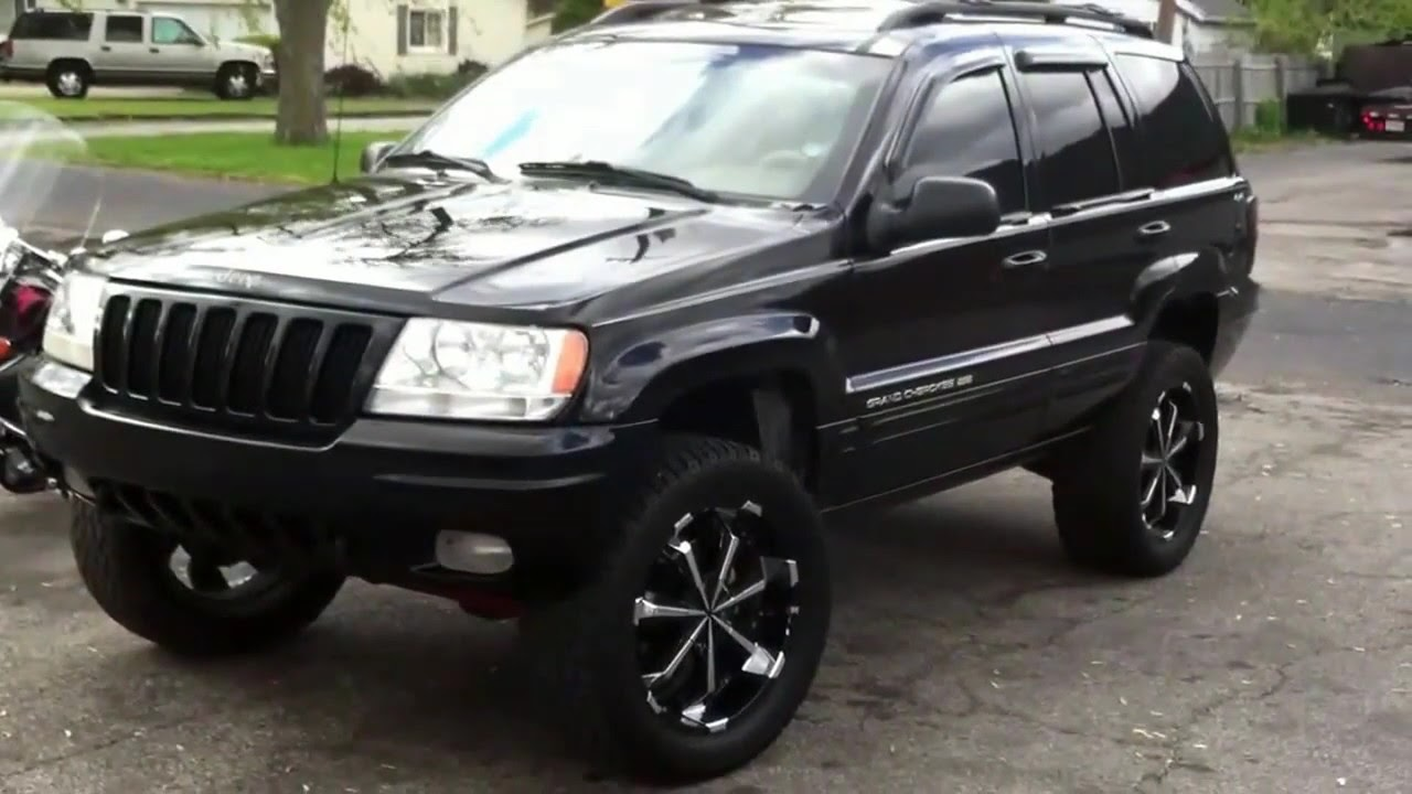 2005 Jeep Grand Cherokee Limited Lift Kit Lifted Jeep Grand Cherokee limited 4x4 on 20's - YouTube