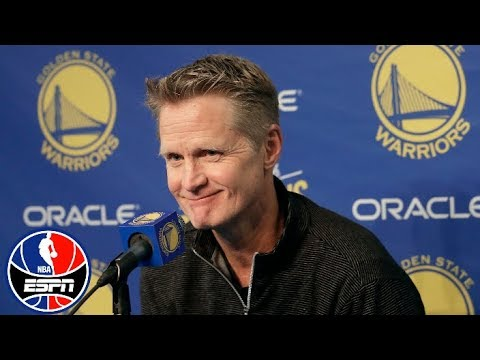 Steve Kerr press conference on Draymond Green suspension | NBA on ESPN