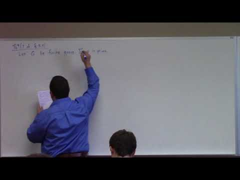 Abstract Algebra: Sylow Theorems, 10-18-17
