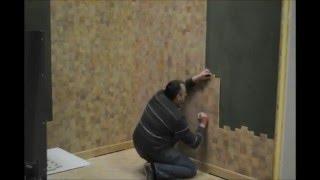 Деревянная Мозаика Drakkar торцевой Дуб для стен установка в Париже End grain wood blocks in oak(, 2016-03-12T11:57:19.000Z)
