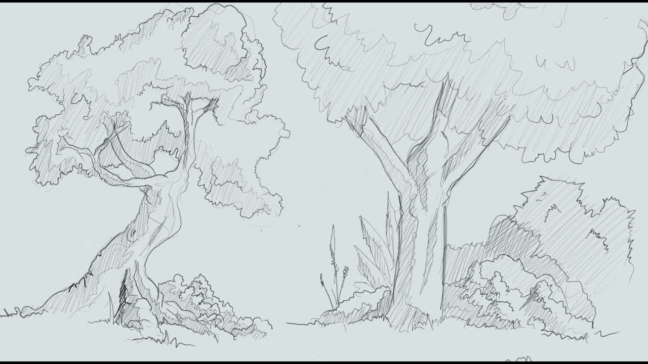 1 How To Draw Trees And Bushesic Book Style