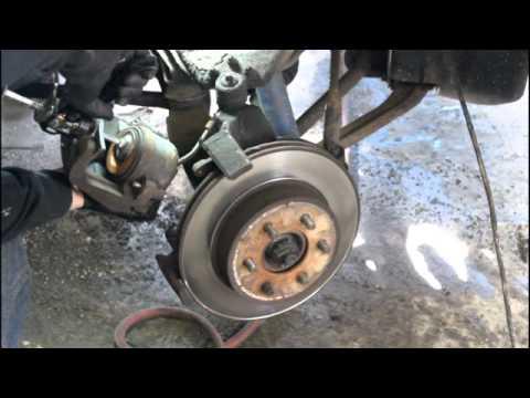 DIY 1999 dakota front brakes - YouTube