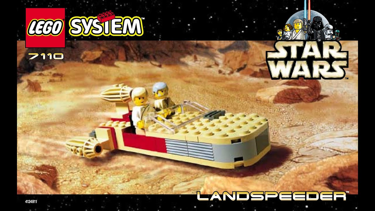 Lego Instructions Star Wars Landspeeder Set 7110 1999