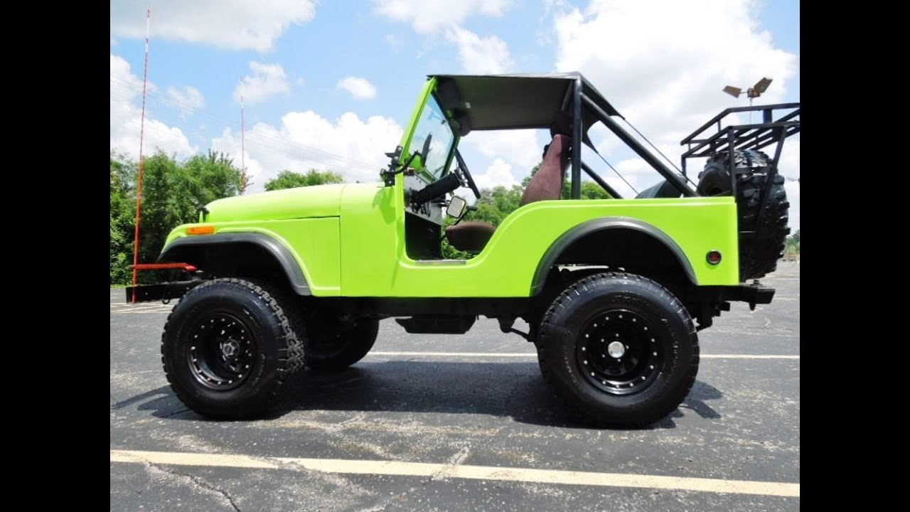 Jeep Cj5 Lifted Fiberglass Body Off Road Ready V8