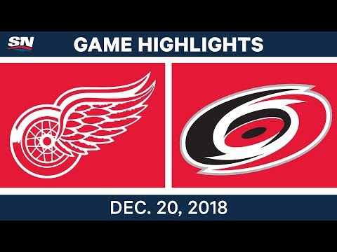 NHL Highlights | Red Wings vs. Hurricanes - Dec 20, 2018