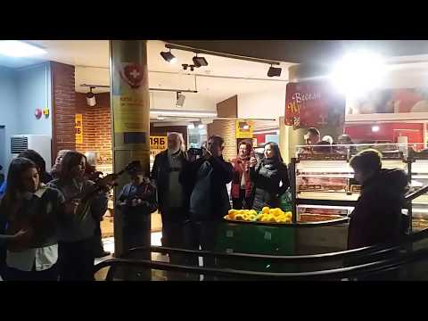 Ruse Flashmob Weeks 15.12.2017. BILLA Tambura Orchestra Ruse