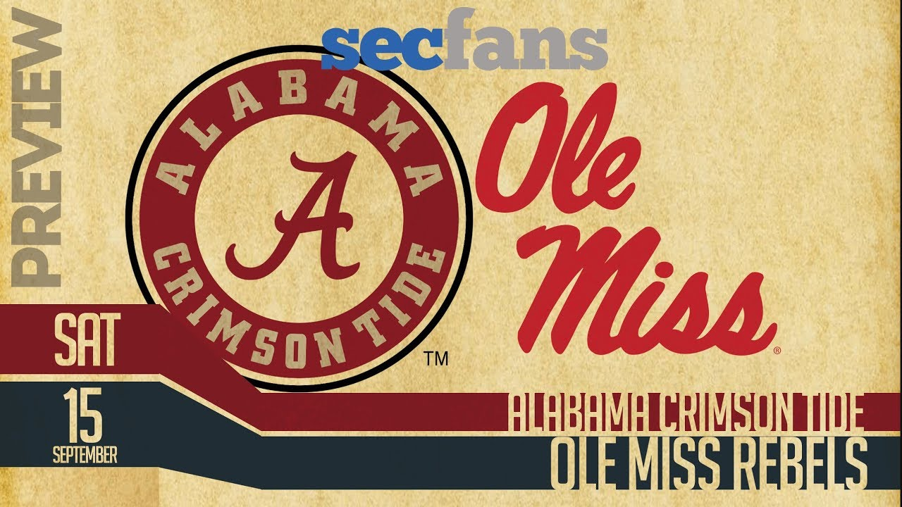 Alabama Vs Ole Miss 2018 Preview Predictions College Football