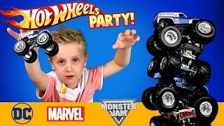 Hot Wheels Monster Trucks & Marvel & DC Superheroes Hot Wheels Car Unboxing by KID CITY