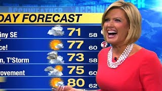 Weather Reporter Can't Believe This Happened