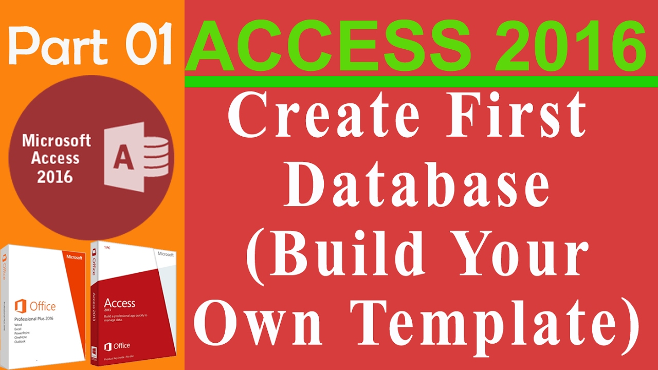 how to build a database in access 2016
