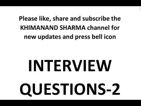 Every civil engineer must know Interview QUESTIONS part 2