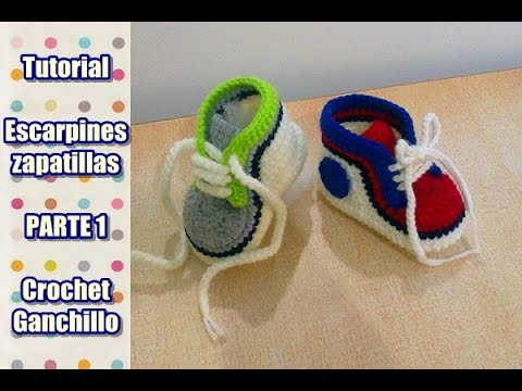 Crochet Tutorial Zapatitos Escarpines : tejer escarpines, zapatitos, zapatillas, patucos para bebe a crochet ...