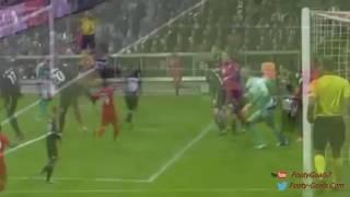 Robert Lewandowski Second Goal Bayern Munich vs Dinamo Zagreb 4 0 UCL 2015