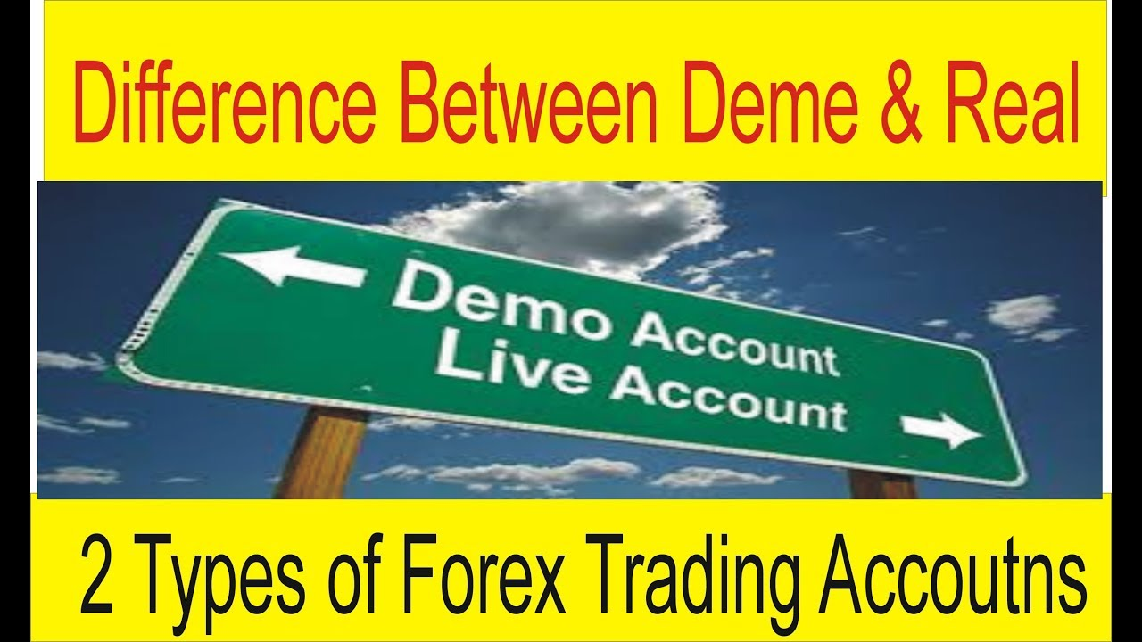 Difference forex demo and live charts
