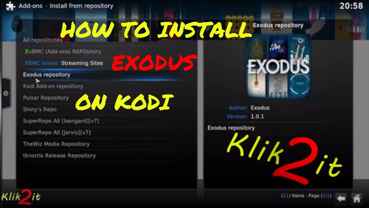 How to install Exodus on KODI / XBMC 2017 TUTORIAL