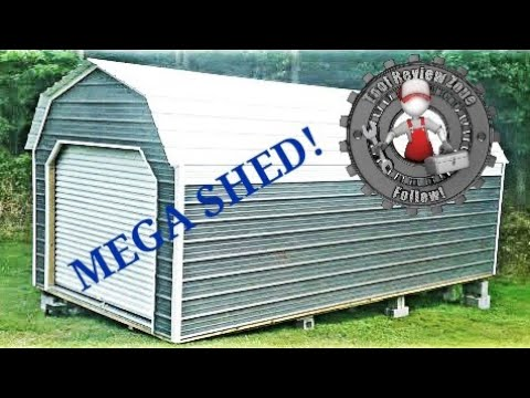 OLD HICKORY BUILDINGS metal shed/garage overview and tour #storage #organization #shed #amish