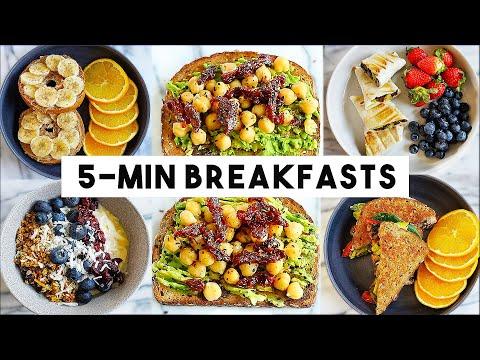 EASY 5-MINUTE BREAKFAST IDEAS (vegan)