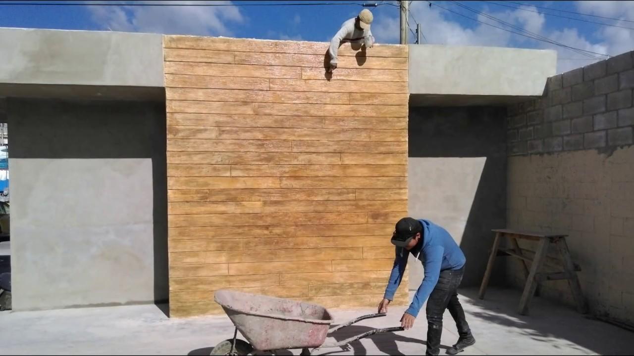 Muro con acabado madera youtube - Muro de madera ...