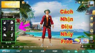 Hướng Dấn Cách Nhận Điệu Nhảy Free PUBG china (Game For Peace)