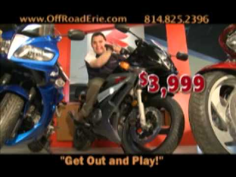 """Suzuki Motorcycles Off-Road Erie """"Get out and Play..."""