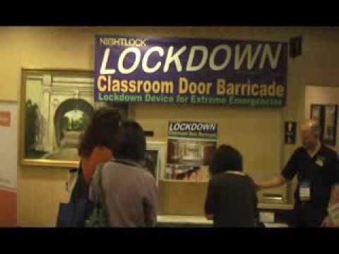 School safety Classroom door barricade featuring Nightlock Lockdown in St  Louis