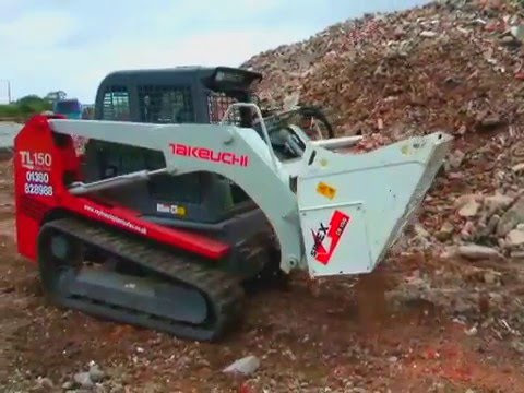 Ковш дробилка Simex CB на мини погрузчик для переработки отходов