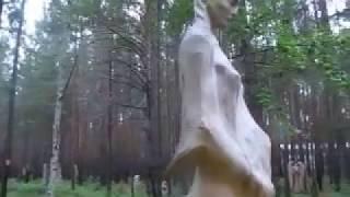 055 Парк деревянные скульптуры России Park wooden sculpture carving резьба по дереву бензопилой арт