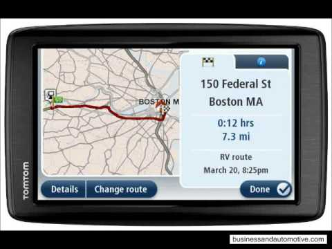 tomtom via 1605m rv gps navigator with lifetime maps youtube. Black Bedroom Furniture Sets. Home Design Ideas