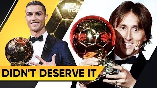 5 PLAYERS WHO DIDN'T DESERVE TO WIN THE BALLON D'OR - GOAL24