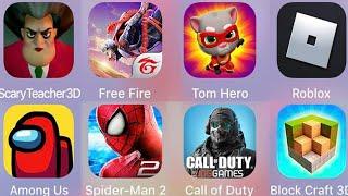 Scary Teacher 3D,Call of Duty,Block Craft 3D,Roblox,Tom Hero,Free Fire,Spiderman Amazing 2,Among us screenshot 1