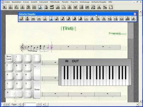 Noten mit einem MIDI-Keyboard eingeben - Finale 2010 Tutorial