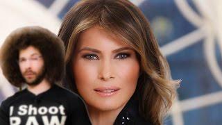 Is Melania Trump's Official White House Portrait Out Of Focus? Critiquing The First Ladies Portraits