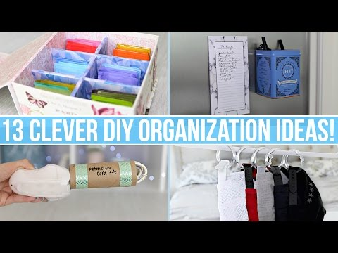 13 Clever DIY Home Organization Ideas!