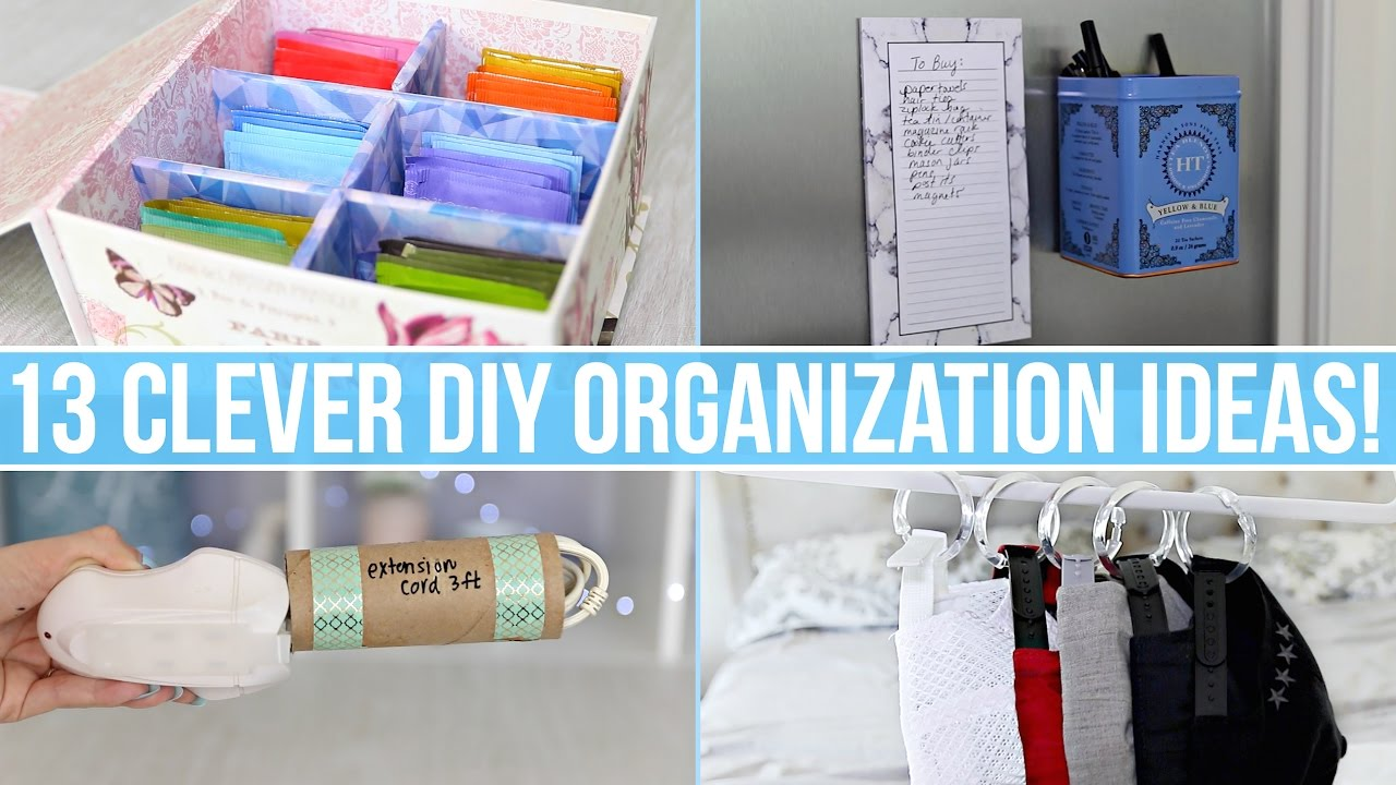 Home Organization Ideas 13 clever diy home organization ideas! - youtube