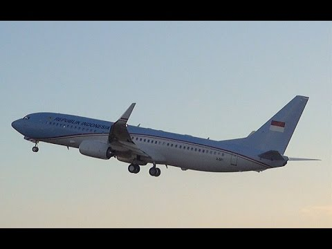Indonesian Airforce Boeing 737 A-001 Takeoff from Amsterdam Airport Schiphol (DutchPlaneSpotter)