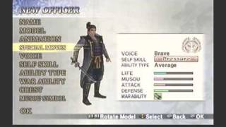 Let's Play Samurai Warriors 2: Empires pt. 1 (Making a new Officer)