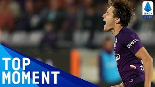 Chiesa smashes home from a Dalbert flick-on! | Fiorentina 2-1 Sampdoria | Top Moment | Serie A