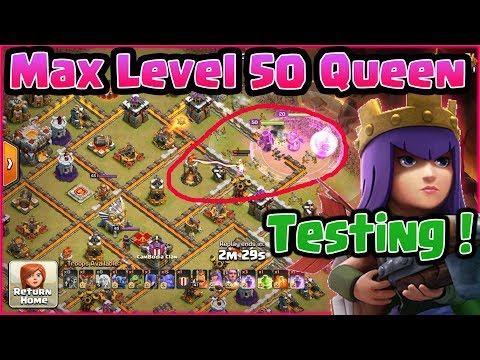 Clash of Clans👉🎁MAX LEVEL 50 HERO QUEEN TESTING ON MAX TH11⭐LEARN TO QWALK SKILL !
