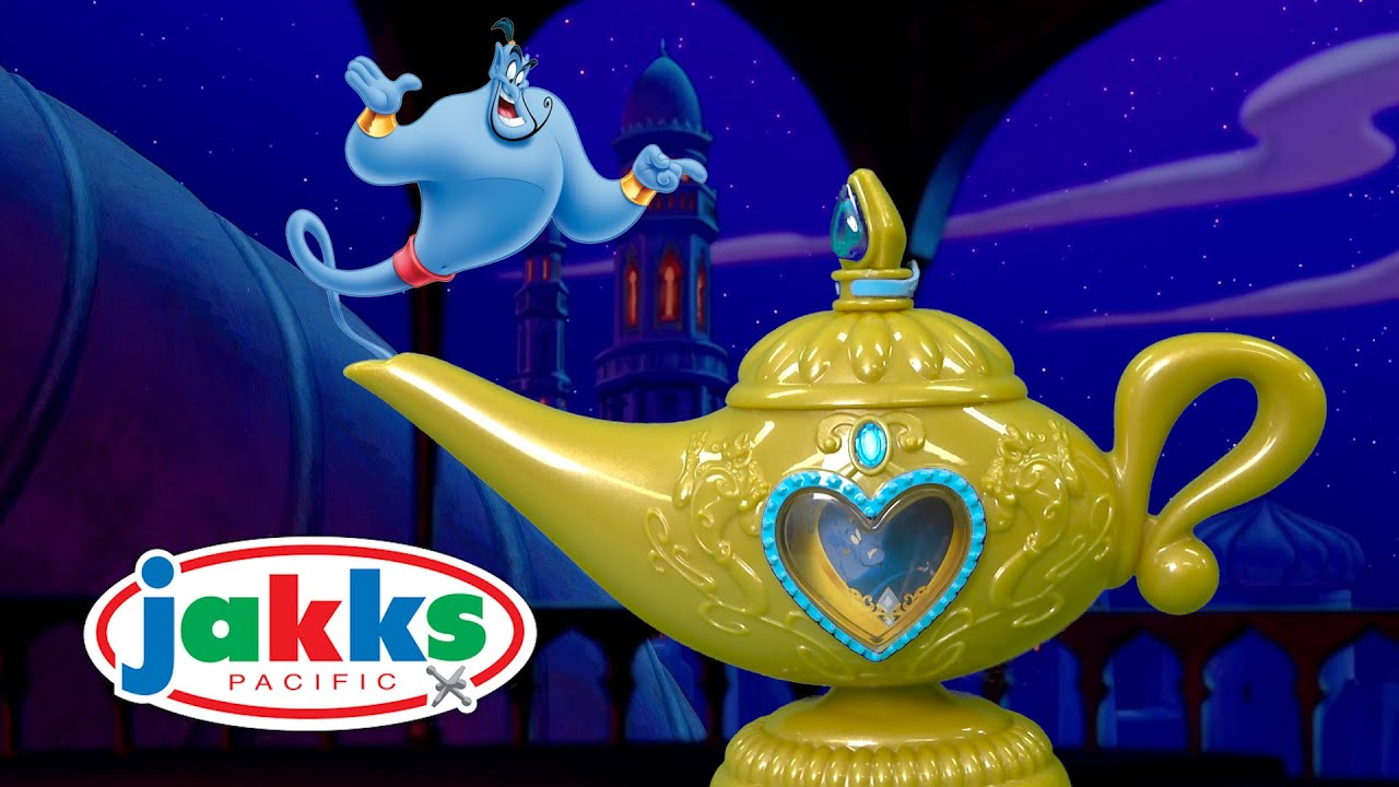 Disney Princess Aladdin Magic Genie Lamp from Jakks Pacific - YouTube for Magic Lamp Aladdin Disney  111ane