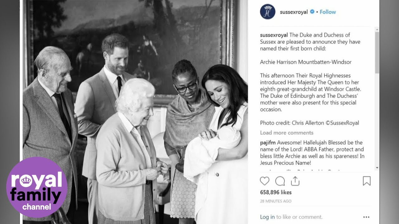 baby sussex is named archie harrison mountbatten windsor youtube baby sussex is named archie harrison mountbatten windsor