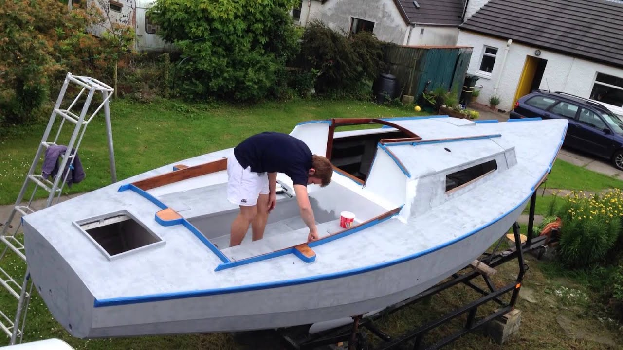 Painting Deck White Time Lapse   Yacht Restoration   Yacht Warlord   YouTube