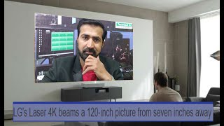 LG laser 4k beams a 120 inch picture from 7 inch away Hindi urdu
