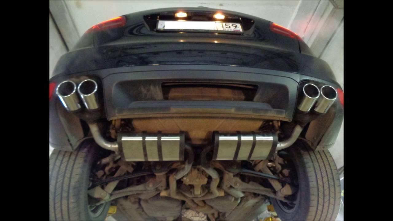 Тюнинг выхлопной системы с настройкой звука Porsche Cayenne 3 6