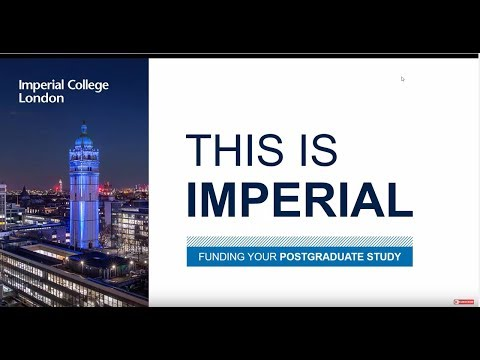 Funding Postgraduate Study at Imperial