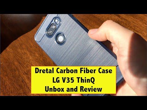 LG V35 ThinQ Dretal Dretal Carbon Fiber Phone Case Review
