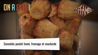 Recette de cannelés poulet fumé, fromage et moutarde, On a faim!