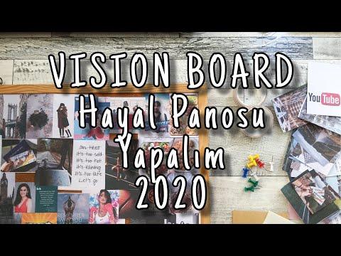 Hayal - Motivasyon Panosu Yapalım / Vision Board   Hayallerin Için Harekete Geç
