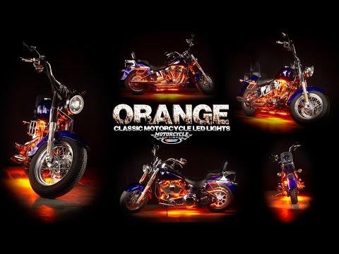 LEDGlow | Orange Classic Motorcycle LED Lighting Kit